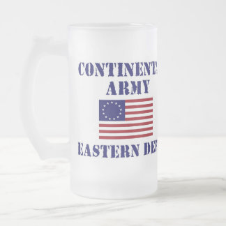 American Continental Army Frosted Drinking Glass Mugs