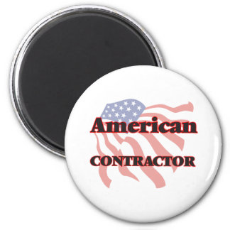American Contractor 6 Cm Round Magnet