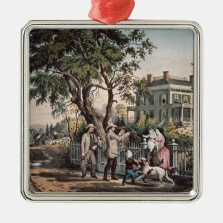American Country Life - October Afternoon, 1855 Christmas Ornament