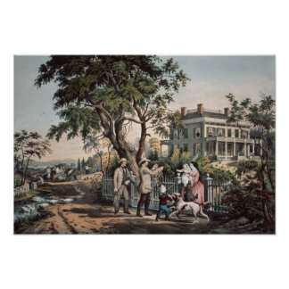 American Country Life - October Afternoon 1855 Poster