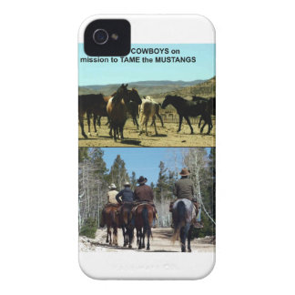 American Cowboys on trip to TAME Mustang Horses iPhone 4 Case