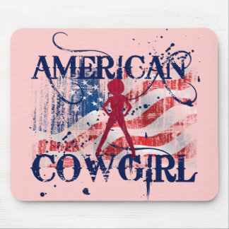 AMERICAN COWGIRL MOUSE PAD