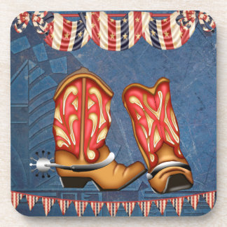American Cowgirl red white blue western boots Coaster