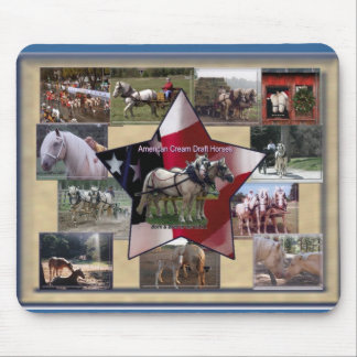 American Cream Collage Mouse Mat