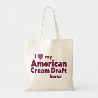 American Cream Draft horse Budget Tote Bag