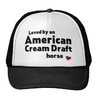 American Cream Draft horse Cap
