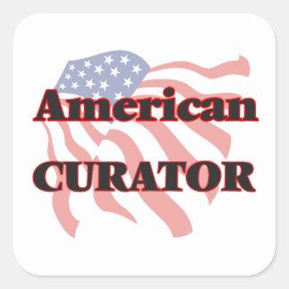American Curator Square Sticker