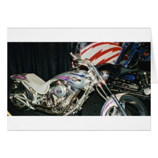 American Custom VTwin Motorcycle. Card