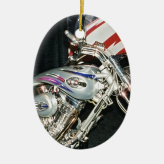 American Custom VTwin Motorcycle. Ceramic Oval Decoration