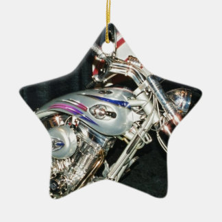 American Custom VTwin Motorcycle. Ceramic Star Decoration
