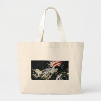 American Custom VTwin Motorcycle. Large Tote Bag