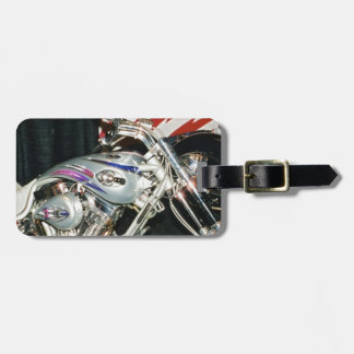 American Custom VTwin Motorcycle. Luggage Tag