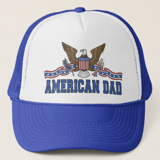 American Dad Eagle Banner T-shirts Trucker Hat
