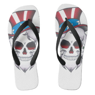 american dark skull unisex flips flip flops