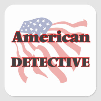 American Detective Square Sticker
