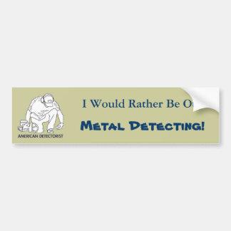 American Detectorist Bumper Sticker