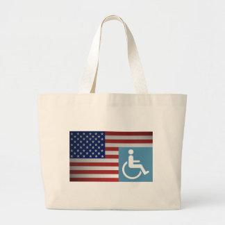 American Disabled Veteran. Jumbo Tote Bag