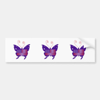 American Diva Butterfly Bumper Stickers