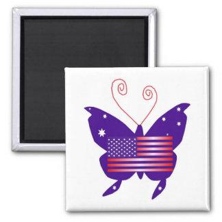American Diva Butterfly Fridge Magnets