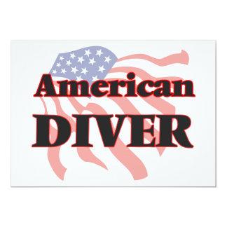American Diver 13 Cm X 18 Cm Invitation Card