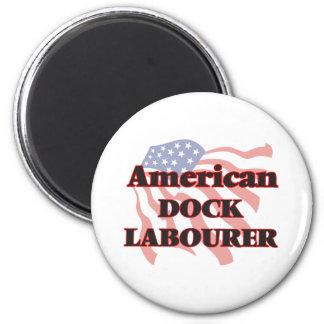 American Dock Labourer 6 Cm Round Magnet