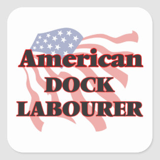 American Dock Labourer Square Sticker