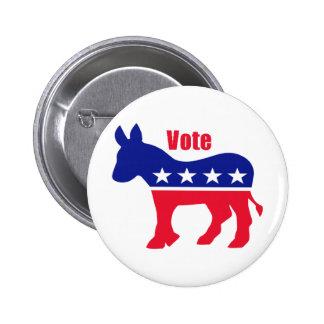 "American donkey with ""Vote"" 6 Cm Round Badge"