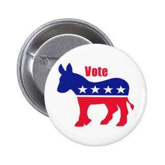 "American donkey with ""Vote"" 6 Cm Round Badge"