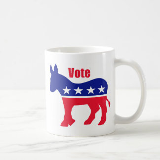 "American donkey with ""Vote"" Coffee Mug"