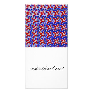 american doodle pattern photo card