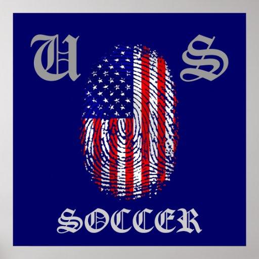 American down to my fingerprints USA pride Print