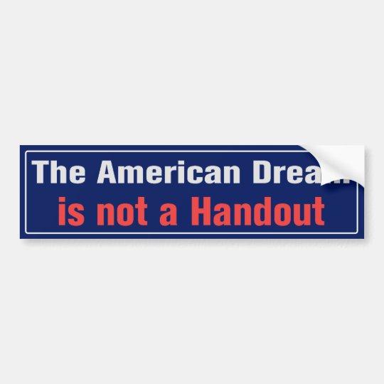 American Dream Bumper Sticker