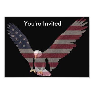 American Eagle 13 Cm X 18 Cm Invitation Card