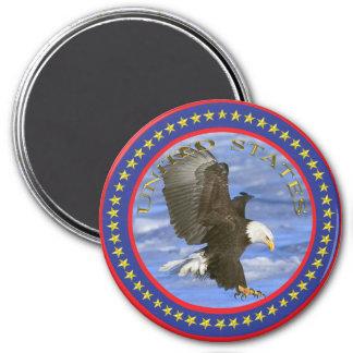 American Eagle 7.5 Cm Round Magnet
