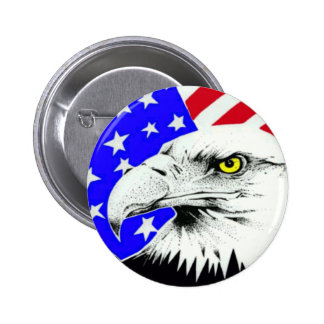 AMERICAN EAGLE AND FLAG BUTTON