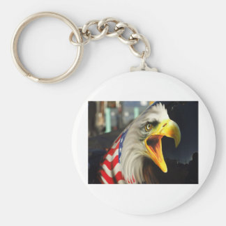 American Eagle Basic Round Button Key Ring