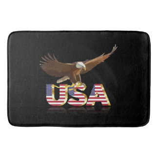 American eagle bath mats