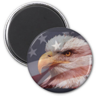 AMERICAN EAGLE by SHARON SHARPE 6 Cm Round Magnet