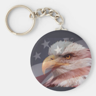 AMERICAN EAGLE  by SHARON SHARPE Basic Round Button Key Ring