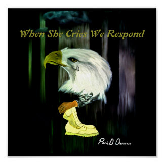 American Eagle Cries Poster