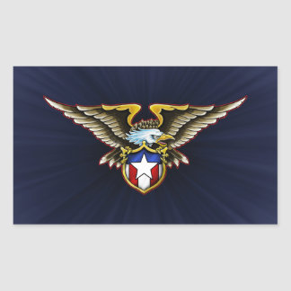 American Eagle Design Rectangular Sticker