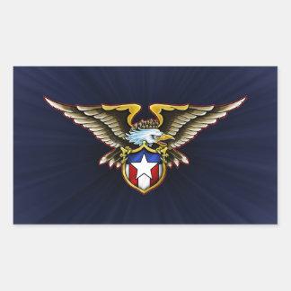 American Eagle Design Rectangular Sticker