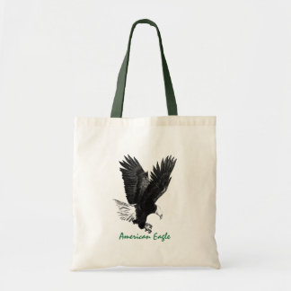 American Eagle Drawing Canvas Bag