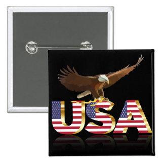 American eagle flag 15 cm square badge