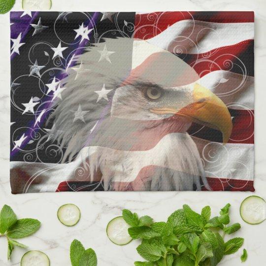 American Eagle Flag Kitchen Towel