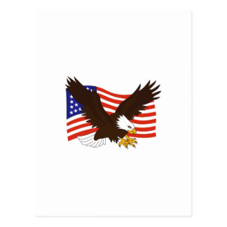 AMERICAN EAGLE FLAG POST CARDS