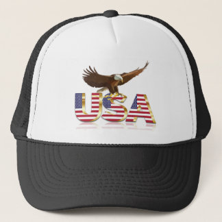 American eagle flag trucker hat