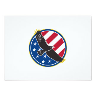 American Eagle Flying USA Flag Retro Custom Invite