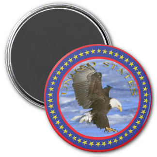 American Eagle 7.5 Cm Round Magnet