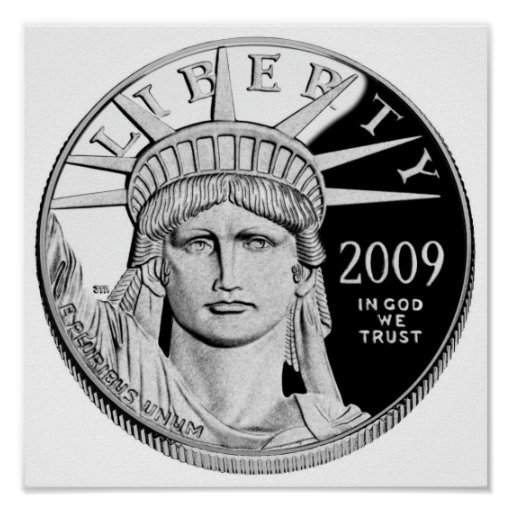 American Eagle Platinum Proof Coin Poster